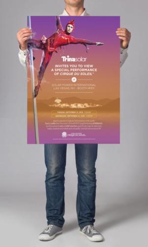 Trina Solar Poster with Cirque Du Soleil