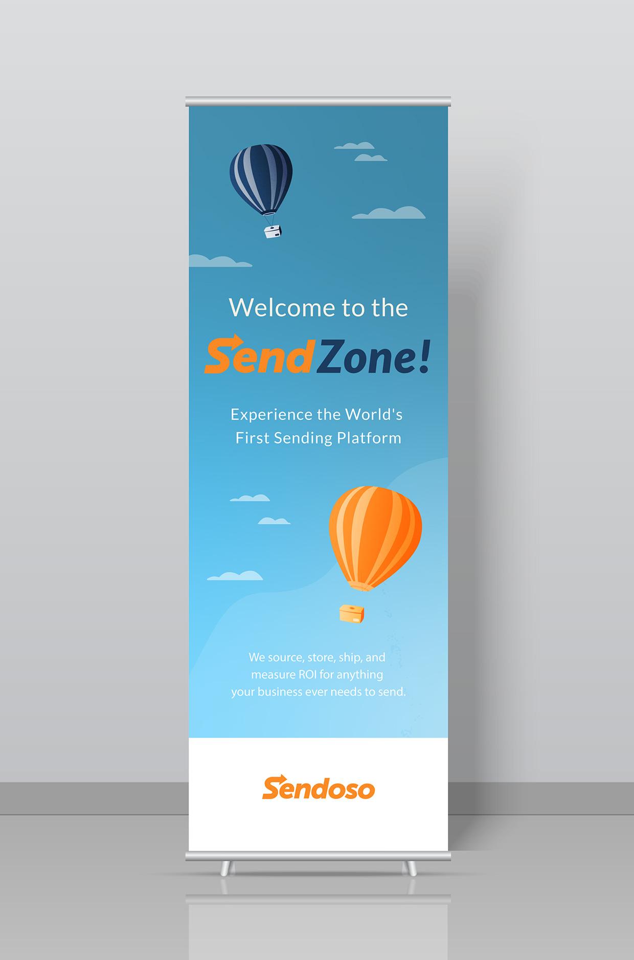 Sendoso Retractable Banner